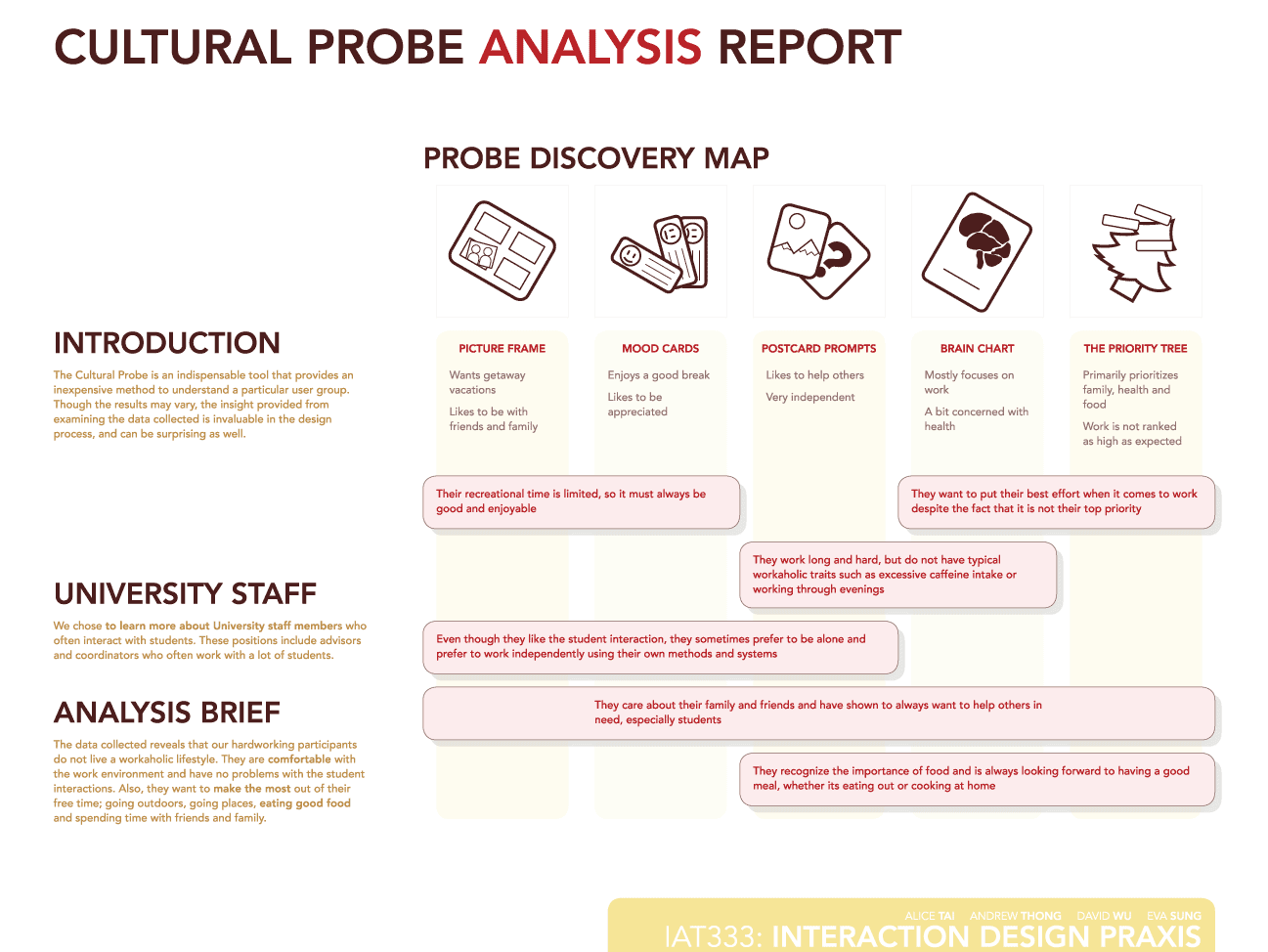 Cultural Probe Analysis Report