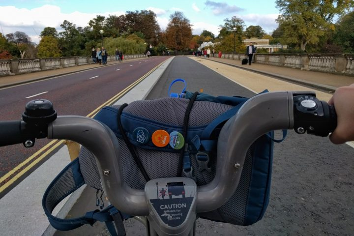 Santander Cycles bicycle handlebar