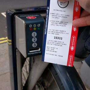 Santander Cycles pin code and keypad