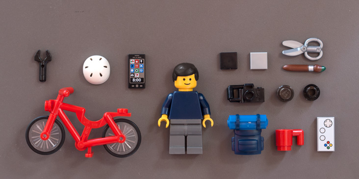 Me and my stuff in LEGO format