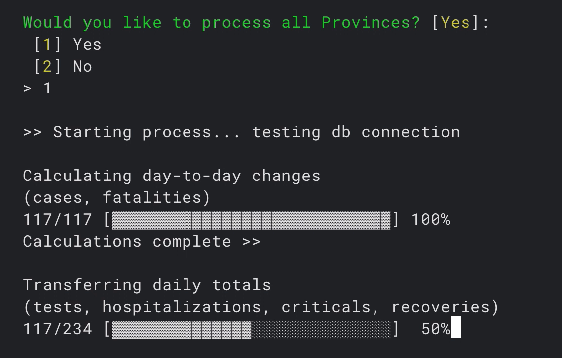 Using CLI for data processing